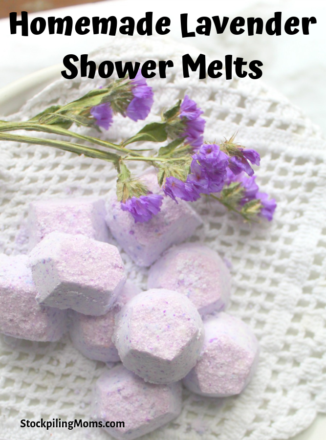 Homemade Lavender Shower Melts are the perfect gift for everyone on your list. Package these up and gift them to teachers, friends, co-workers. The sky is the limit.
