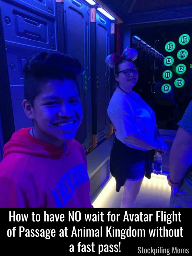 How to have NO wait for Avatar Flight of Passage at Animal Kingdom without a fast pass!