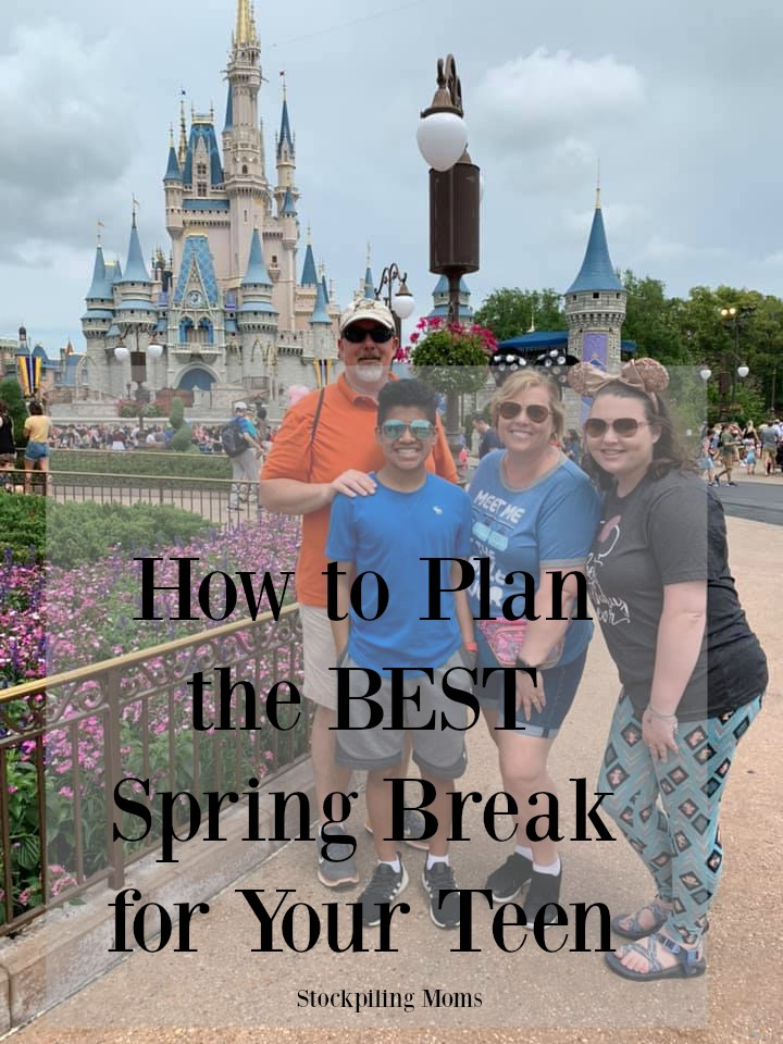 How to plan the best spring break for your teen! Trust me, the years go by quickly. Take advantage of the time together and make memories that will last a lifetime.