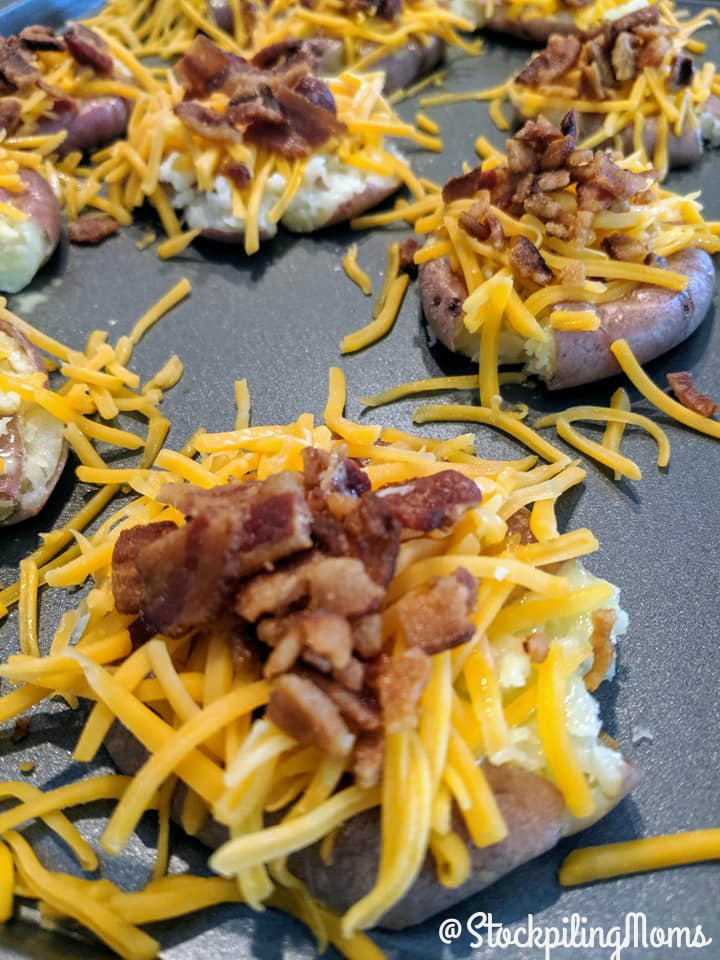 Loaded Smashed Red Skin Potatoes
