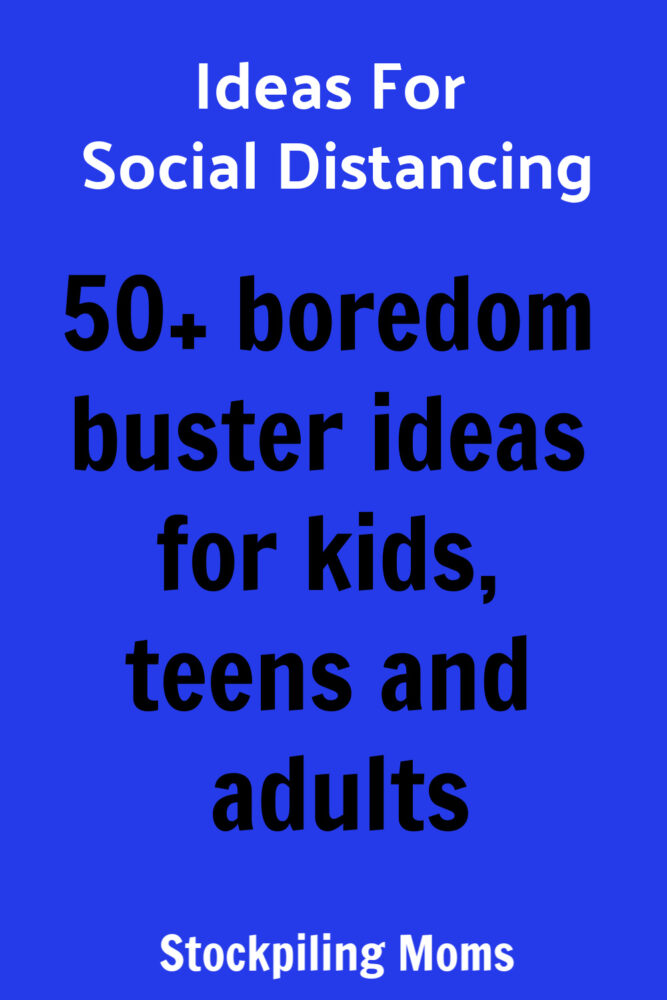 Ideas for Social Distancing