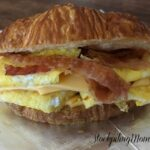 bacon, egg, and cheese croissant